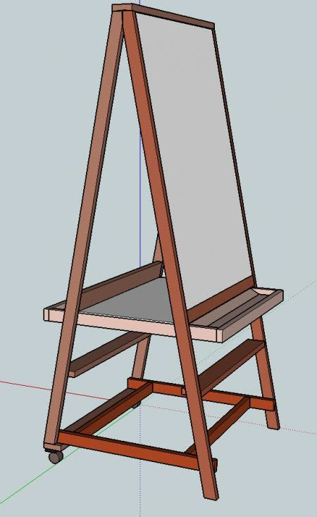 art easel plans woodworking projects plans