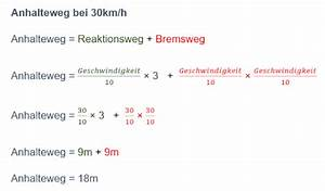 Kmh Berechnen : der anhalteweg f r den f hrerschein theorie lernen ~ Themetempest.com Abrechnung