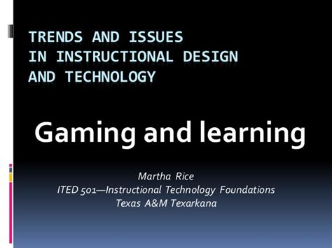 trends and issues in design and technology trends and issues ppt