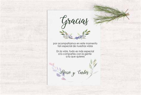 tarjeta de agradecimientos tarjetas de agradecimiento boda rustica martina design paper