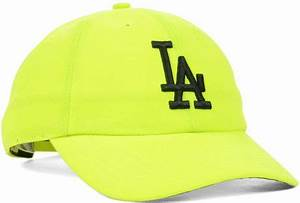 47 Brand Womens Los Angeles Dodgers Neon Clean Up Cap in
