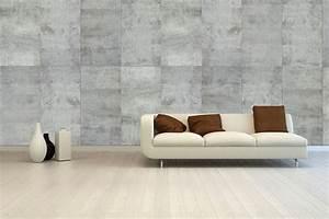 papier peint effet mur beton tuile effet beton interiors With couleur pour mur salon 10 specialiste francais papier peint mur parement salon
