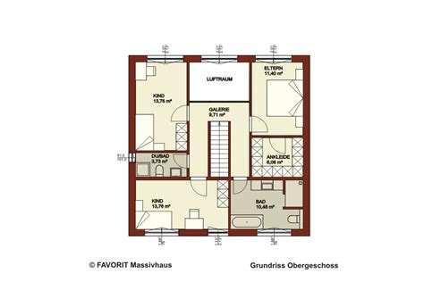 Grundriss Mit Treppe In Der Mitte by Favorit Massivhaus