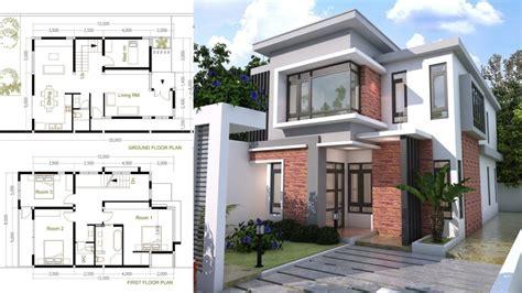 bedroom modern home plan size xm samphoas plan
