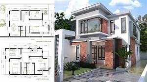 4 Bedroom Modern Home Plan Size 8x12m Sam Phoas Home