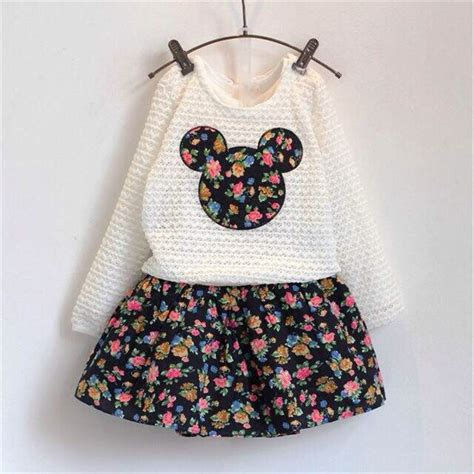 clothes new autumn baby clothing flower dress lace minnie tops clothes