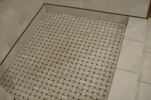 basketweave tile for shower floor bathroom project