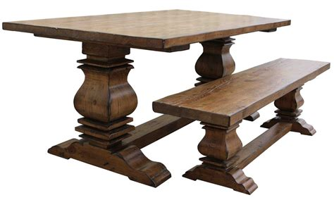 custom reclaimed wood trestle dining room tables handmade