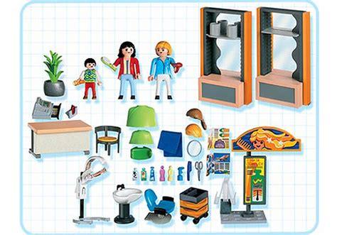 la maison des coiffeurs coiffeuse salon de coiffure 4413 a playmobil 174