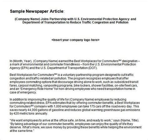 Newspaper Reporter Resume by Newspaper Article Word Template Journalism Basics