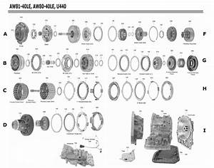 Transmission Repair Manuals U440e   Aw80  81