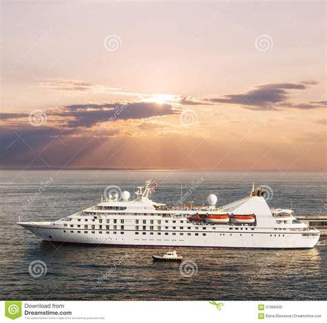Small Luxury Cruise Ship Stock Photo - Image 57968455