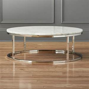 smart round marble top coffee table cb2 With round granite top coffee table