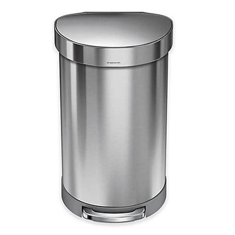 simplehuman stainless steel  liter semi  liner rim