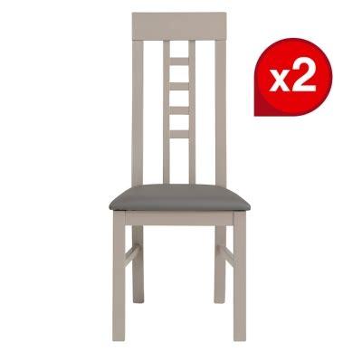 reprise ancien canape lot de 2 chaises malone grises chaises but