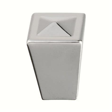 square chrome cabinet knobs shop siro designs merida bright chrome square cabinet knob