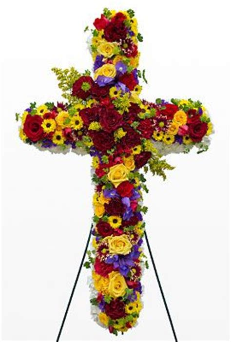 floral cross forms red and yellow funeral flower cross other types of