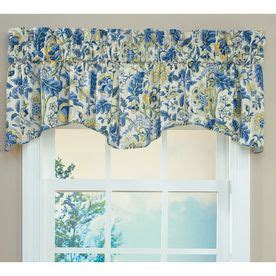 Spencer Home Decor Jacobean Floral Curtains by Waverly 18 In L Porcelain Home Classics Scalloped Valance