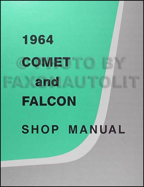 Ford Repair Shop Manual Parts Book Falcon