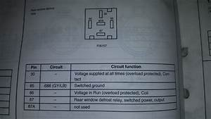 Wiring Diagram For Rear Window Defrost Circuit 2002