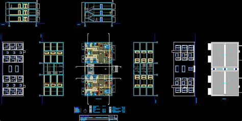 multifamily housing apartment dwg section  autocad