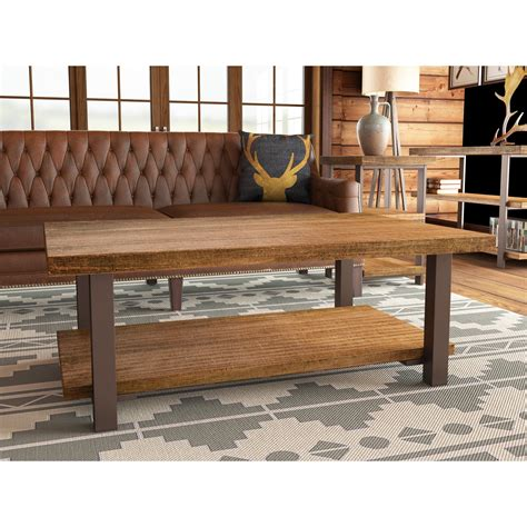 """These deals for teak coffee table are already going fast. Loon Peak Somers 48""""W Reclaimed Wood/Metal Coffee Table & Reviews 