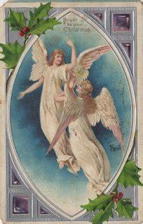 christmas postcard angels  graphics fairy
