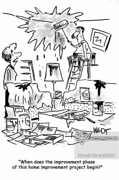 Painting Decorating Improvement Paint Humor Cartoon Cartoons