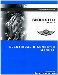 2003 Harley Davidson Xl Sportster Motorcycle Electrical Diagnostic Manual