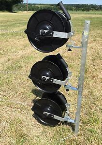electric fence reel kit 120cm mounting 3 x 1 1 fencing reels brackets ebay