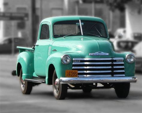 Old Pickup Truck Photo Teal Chevrolet  Old Chevy Pickups