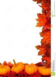 Pumpkin Fall Leaves Corner Border