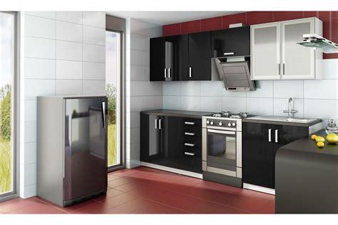 cuisine noir pas cher cuisine aménagée d 39 angle pas cher