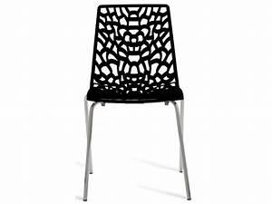 Chaise Cuisine Conforama : chaise groove 2 coloris noir vente de chaise de cuisine conforama ~ Teatrodelosmanantiales.com Idées de Décoration