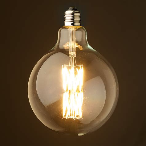 watt dimmable filament led clear   bulb