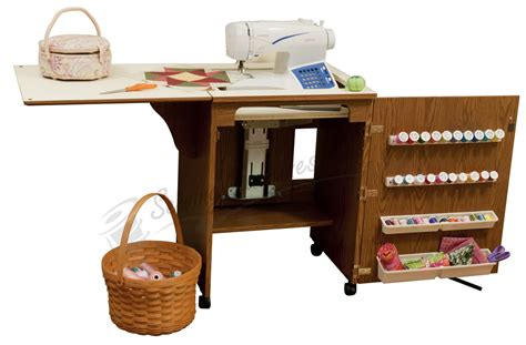 arrow sewing cabinets sale arrow 98500 sewnatra compact sewing cabinet oak finish
