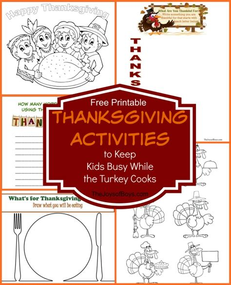 thanksgiving activities to keep busy while the turkey