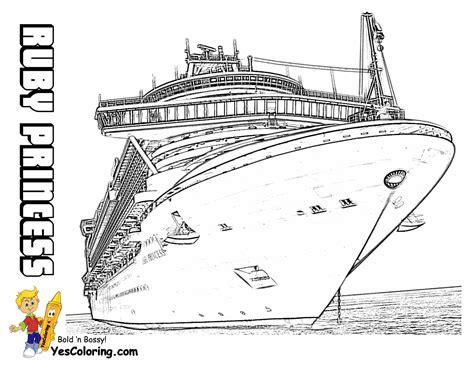Swanky Coloring Page Cruise Ships Free Cruise Ship