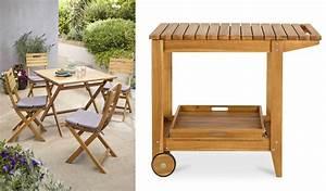 Desserte De Jardin Castorama : meubles de jardin en bois denia de castorama design et pas chers ~ Farleysfitness.com Idées de Décoration