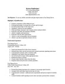 Resume Bullet Points For Cocktail Waitress by Cocktail Waitress Resume Berathen Sle Sales Resume 2014 Customer Service Resume Sle