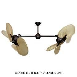 twin star ii tropical palm leaf double motor ceiling fan