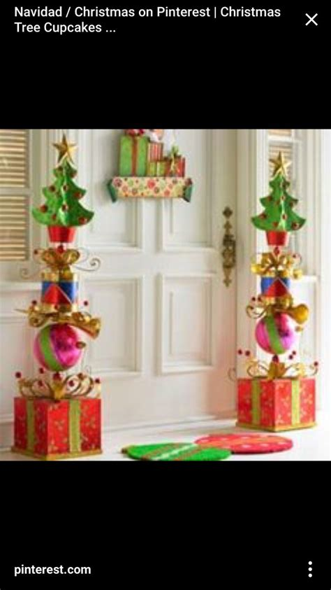 stacked glitter presents topiary christmas decor pinterest