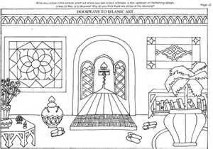 doorway  islamic art coloring page  images