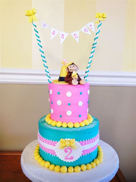 curious george cake  girl fun  cake projects