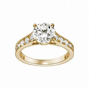 Yellow gold solitaire diamond engagement rings diamantbilds for Wedding rings with solitaire diamond