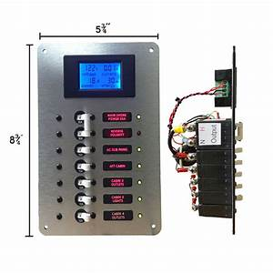 Ac Main Circuit Breaker Panel With Digital Ac Voltmeter