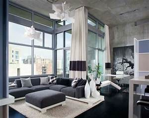 Gardinen Wohnzimmer Grau : luxus wohnzimmer einrichten 70 moderne einrichtungsideen ~ Whattoseeinmadrid.com Haus und Dekorationen