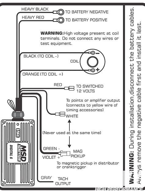 msd 6al wiring diagram chevy hei free wiring diagram
