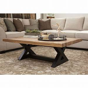 wesling metal mango wood 2 tone coffee table 13m buy With two tone wood coffee table