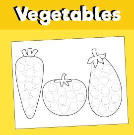 vegetables   dot printable  minutes  quality time